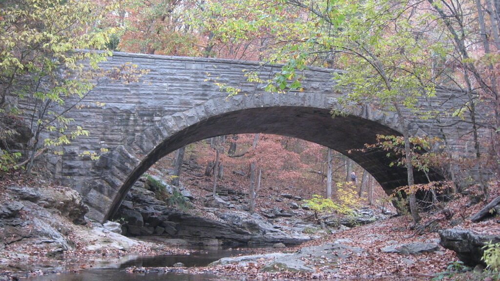 Shows example of an arch used for a bridge structure.